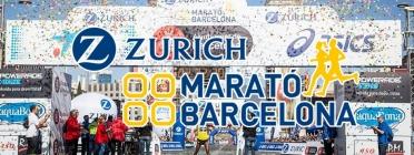 El cartell de la Zúrich Marató de Barcelona. Font: Zurich Marató de Barcelona.