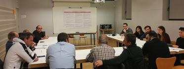 Una sessió de treball en el marc del projecte