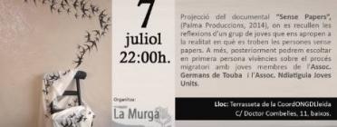 Cartell de la Nit de Cinema i Històries Migrades