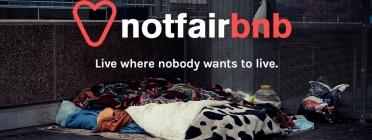 Pàgina principal de Notfairbnb.be. Font: Notfairbnb.be