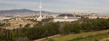 Panoràmica de Montjuïc amb l'Anella Olímpica