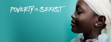 "Imatge de la campanya ""Poverty is sexist"""
