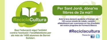 Imatge de la campanya Recicla Cultura