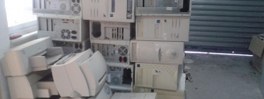 Ordinadors emmagatzemats per ser reutilitats o reciclats