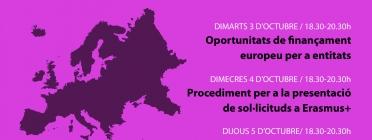 """Cartell de la formació """"Recursos europeus per a entitats juvenils"""""""