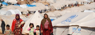 Camp de refugiats. Font: Youtube