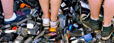 Residus de telèfons mòbils. Font: Fairphone (Flickr)