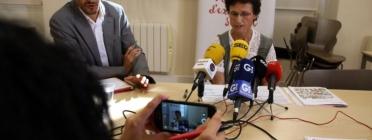 La directora de Càritas, Dolors Puigdevall, en roda de premsa. Font: ACN