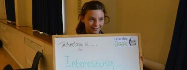 Foto de la campanya Little Miss Geek. Font: LadyGeekTV (Flickr)