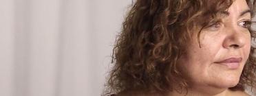 Cara de perfil d'una senyora que partcipa a 'Accessibilitat Audiovisual'