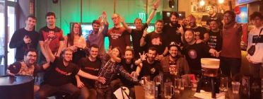 Un grup de membres de la comunitat Gaming.cat durant una de les trobades presencials. Font: Gaming.cat