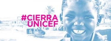 Imatge de la campanya publicitaria #CierraUnicef
