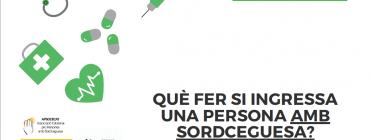 Coberta de la Guia Sordceguesa i COVID19 - Manual per a professionals sanitaris Font: APSOCECAT