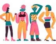 Il·lustració de persones amb identitats i cossos dissidents.