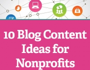 Imatge il·lustratiu del text original en anglès 10 Blog Content Ideas for Nonprofits