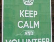 keep calm and volunteer here