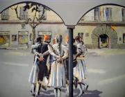 Imatge del Centre Moral d'Arenys de Munt, pintura del mural.