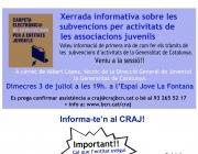Xerrada informativa: Subvencions de la Direcció General de Joventut 2013