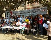 Roda de premsa de la Comissió Promotora de la Renda Garantida de Ciutadania