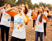 Dones participant a una acció dels 16 dies d'activisme