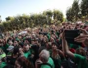Centenars de persones han celebrat a l'exterior del Parlament l'aprovació de la Llei. Font: Parlament