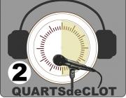 Logotip de 2 Quarts de Clot de la Ràdio Ateneu del Clot