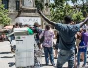Acte per demanar el canvi de nom de la plaça Antonio López pel d'Idrissa Diallo
