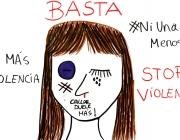Dibuix contra la violència masclista dins la iniciativa 'Art per l'equitat'