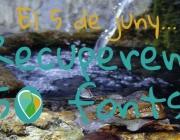 """Imatge de la campanya """"Recuperem 50 fonts"""" associada a la Setmana de la natura (imatge:setmananatura.cat)"""