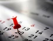 Calendari. Font: Web de la Federació d'empresaris de Badalona