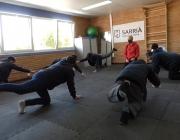 El Centre Ocupacional ofereix sessions de Pilates per lluitar contra el sedentarisme i l'envelliment prematur.  Font: Paula Gil