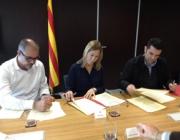 Imatge de l'acte en que es va signar l'acord marc. Font: web gencat.cat
