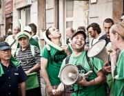 Activistes de la PAH. Font: Andrea Ciambra, Flickr