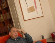 Josep M. Benet i Jornet en un moment de l'entrevista (Foto: A. Carné)