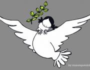 Abraçant la pau. Una imatge de www.muxotepotolobat.com