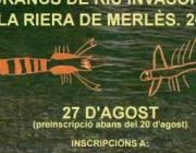 Cartell de la Jornada de Voluntariat Ambiental destinada a la captura de crancs invasors a la riera de Merlès (imatge: adeffa.cat)