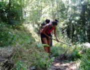 Foto: l'AEiG Sant Sadurní fent servei al Pallars