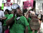 """Fotograma del documental """"La Plataforma"""", protesta ciutadana"""