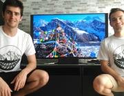 L'Antonio Pérez, a l'esquerra, i en Luis Franco, a la dreta de l'imatge. Font: Help Nepal, Know Yourself
