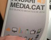 L'Anuari Mèdia.cat recull els silencis mediàtics del 2014. Foto: Clara Soteras (Twitter)
