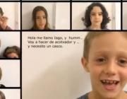 Un dels infants de la colla demana el seu casc en el vídeo promocional