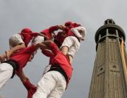Castellers durant una actuació a l'Aplec 2011 celebrat a Grenoble (França)