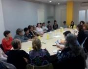Trobada de la Coordiandora d'ONGD de Lleida amb amb la Direcció General de Cooperació al Desenvolupament l'octubre de 2015