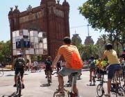 Ciclistes del BACC als carrers de Barcelona (Imatge:BACC) Font: