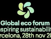 Logotip del Global Eco forum de Barcelona