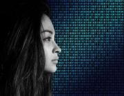 Una noia amb fons de sistema binari