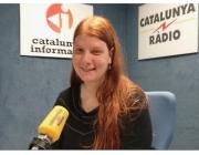Carol Coll, presidenta de l'Associació de Naturalistes de Girona, durant una entrevista a Catalunya Ràdio