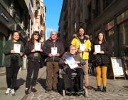 MIFAS, Válida Sin Barreras i la Universitat de Girona impulsen la campanya 'No et quedis fora'. Font: MIFAS