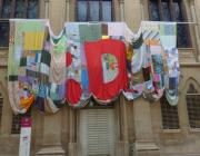 La bandera a la façana de la Universitat de Lleida