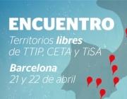 Trobada Europea de Municipis Lliures de TTIP, CETA i TISA. Font: Campanya No al TTIP